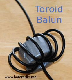 Toroid Balun with Coax Wrapped Around
