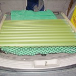 Nailboards made it easy to carry curing pipes in car.