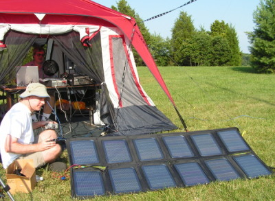 Making Solar Power QSOs during Field Day