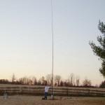 KJ4FAJ poses with 43 foot antenna