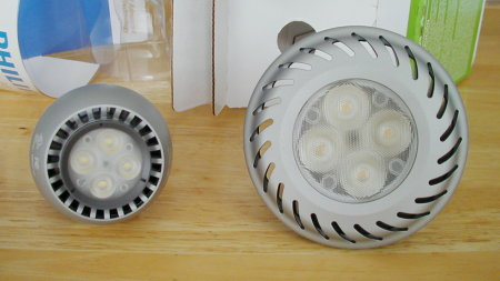 Business end of Philips and GE LED Lamps