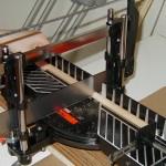KJ4FAJ cuts wood dowels into six inch lengths