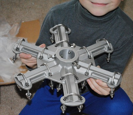 The Hex Beam Hub is ready for the next part of the Hex Beam project.