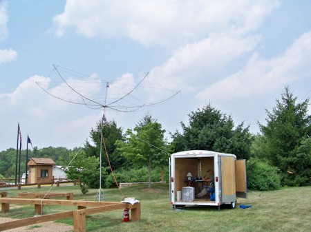 The Elecraft K2 Field Day Station in Trailer with G3TXQ Hex Beam