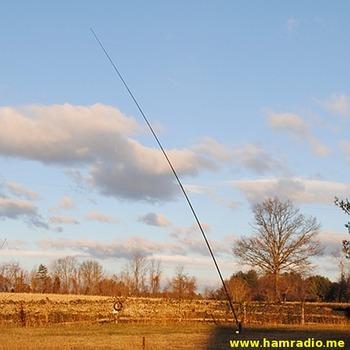 DXE 43 Foot Antenna bent over
