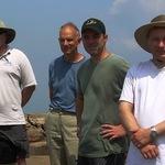 John (KX4O), Eric (W4EON), Ron and Jay