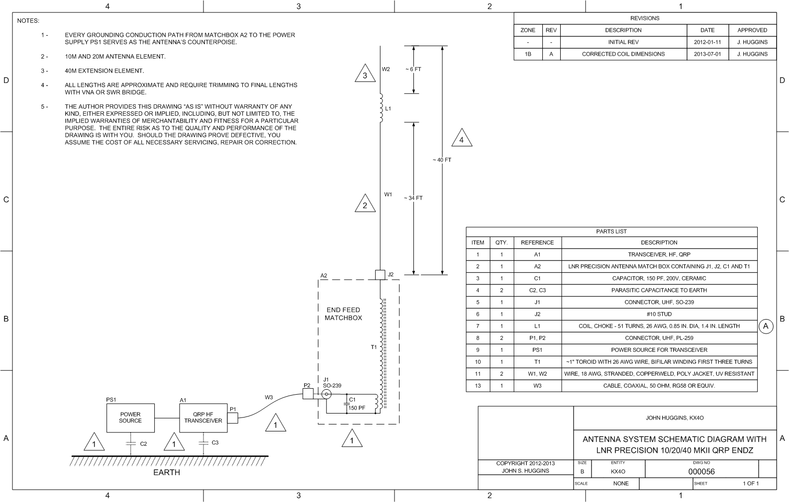 Efhw Lnr Precision Ef 10 20 40mkii Examination Antenna Schematic System Of 40 Deployment