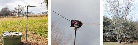 Backyard Test Setup for LNR Precision EF-10/20/40 End Fed Antenna