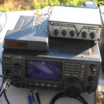 Icom 746 Transceiver with Navigator Interface and Rotator Controller