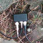 Diplexer used to split Kenwood D710 antenna to mono-band antennas.