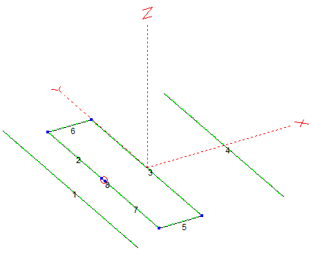 NEC Model Wire View of 6m LFA Yagi-Uda Antenna