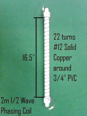 2m 1/2 Wave Phasing Coil