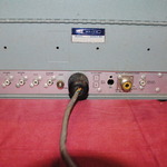 Rear panel of Heathkit SB-102 Transceiver