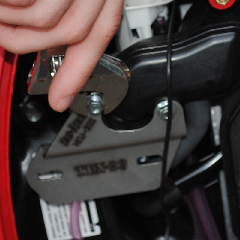 Attach tac-brac® bracket and TT2A tachometer ground wire