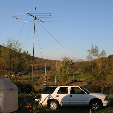View of 6m LFA Yagi antenna from the rear.