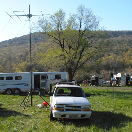 View of net control station and 6m LFA Yagi beam.