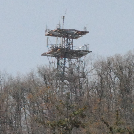This old microwave relay tower is all that's left of the once very important radio relay system in this coutry.