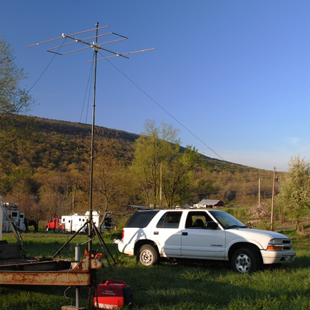 Net control station for the horse endurance ride.