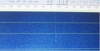 WSJT spectrum display (waterfall) showing the DK5SO contact.