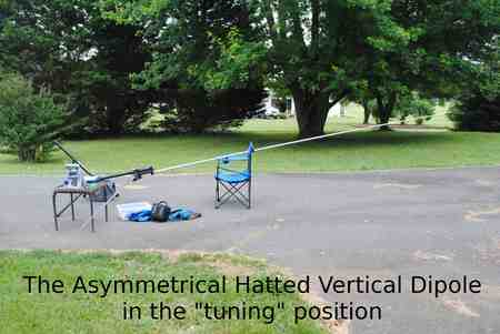 "Portable HF Antenna Asy Hat Dipole in ""tuning"" position"
