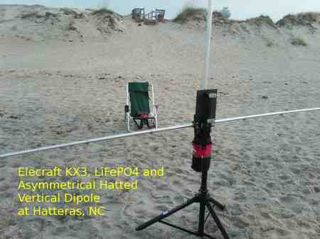 Hatteras 'Shack' with the Portable Beach HF Antenna