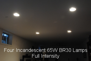 Four Incandescent Lamps full brightness