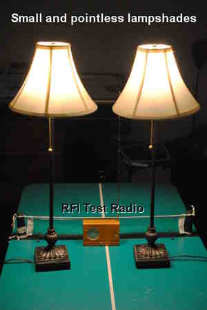 Radio for RFI testing of Ecosmart and Phillips LED light bulbs.