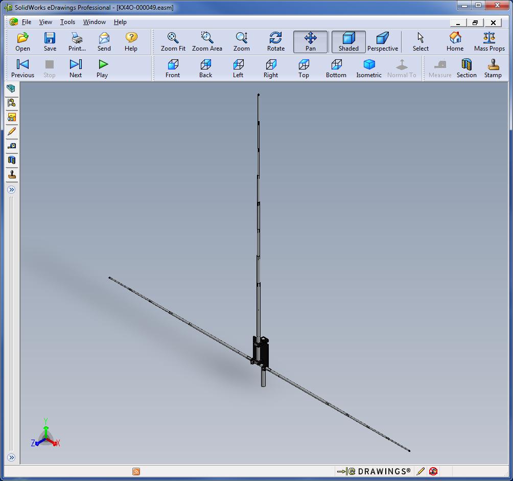 Screenshot of the AHVD as seen in the 3D viewer Edrawings by Solidworks.