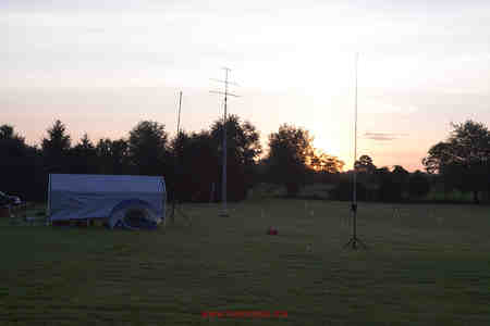 AHVD as part of ARRL Field Day array of antennas.