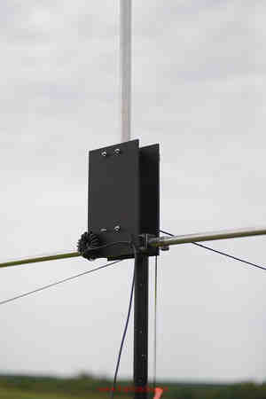 Asymmetrical Hatted Vertical Dipole at ARRL Field Day 2014 with new RF Choke configuration.