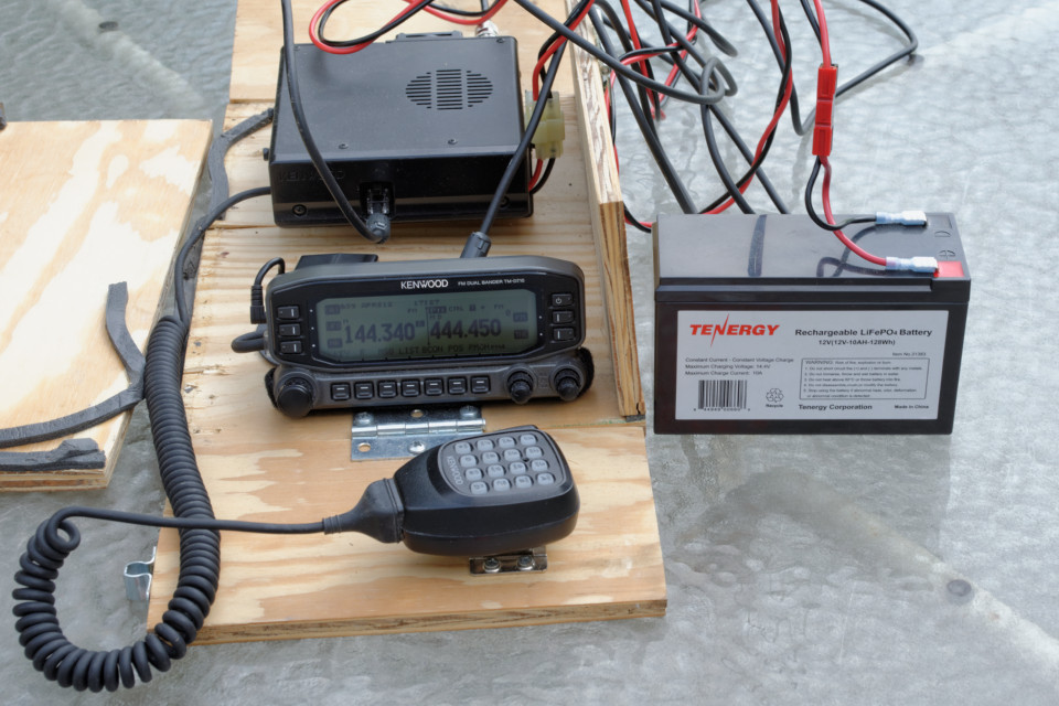 Kenwood D710A and 10AH Tenergy Lithium battery