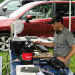 Jason operates 20m phone Saturday afternoon during ARRL Field Day 2015.