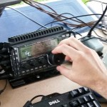 Jason operates the Elecraft KX3 and PX3 looking for phone contacts during the 2015 ARRL Field Day.