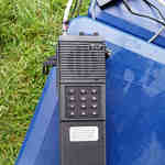 Throwback Icom IC-2AT transceiver used for packet radio Field Day NTS messages.
