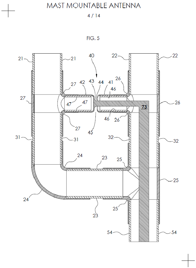 Section View of Low Impedance Feed