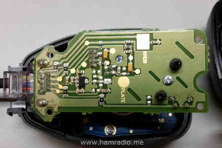 Close loop at the Kenwood TM-D710 stock microphone circuit board.