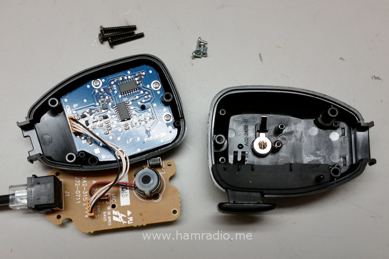 Exploded view of the Kenwood TM-D710 microphone