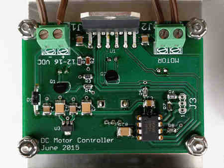 DC motor controller circuit board layout