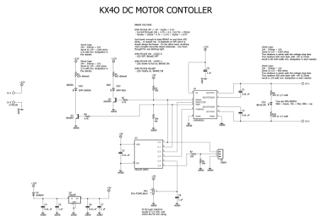 Schematic of DC motor controller