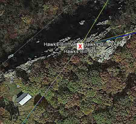 Map and radio link directions from Hawksbill Mountain Appalachian Trail Golden Packet.