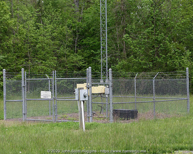 Transmitting equipment of MSQ low frequency Culpeper aviation beacon.
