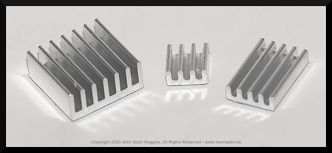 "The three ""traditional"" heatsinks for Raspberry Pi single board computers."